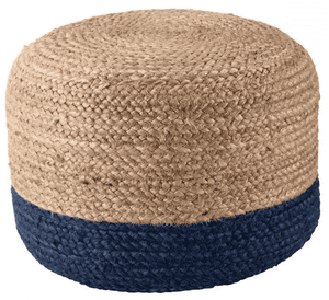 Sabal Jute Pouf - Multiple Colors Available Pouf Sabal Navy