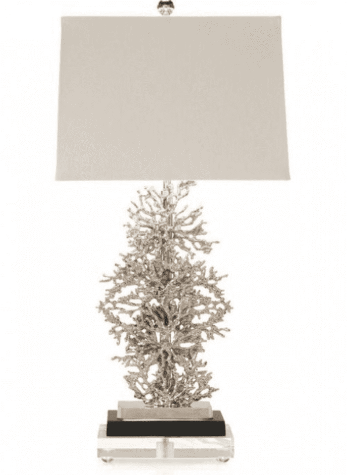 Silver Coral Lamp
