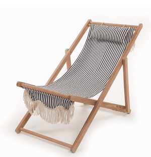 The Sling Beach Chair Lauren's Navy Stripe Beach