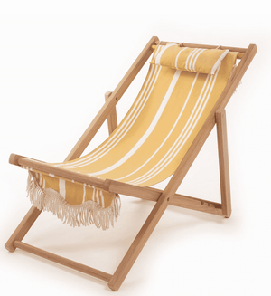 The Sling Beach Chair - Vintage Yellow Stripe Beach