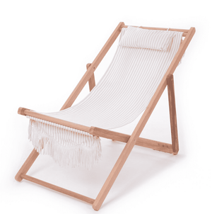 The Sling Beach Chair - Lauren's Sage Stripe Beach