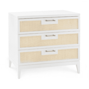 "Gouverneur Beach 3-Drawer 30"" Side Table Side Table"