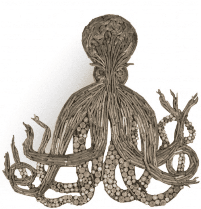 Driftwood Octopus Wall Decor