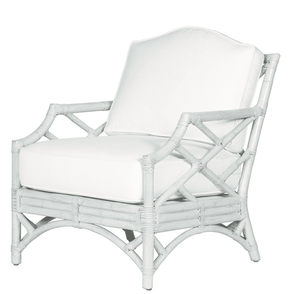 Coastal Chippendale Chair Accent Chair