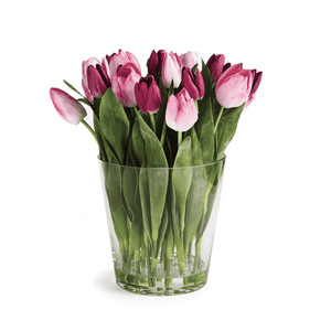 "Dutch Pink Tulip Arrangement in Vase 15""h Floral"