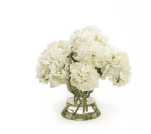 White Hydrangeas in Vase Floral
