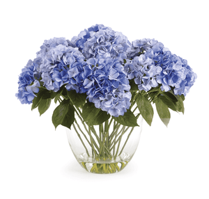 "Hydrangea Arrangement in Vase -Purple 26.5"" Floral"