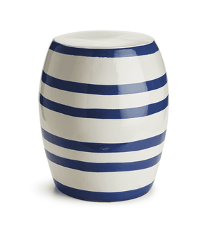 Seaside Striped Garden Stool Garden Stool