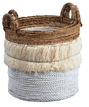 Malang Segrass & Banana Stalk Baskets - Set of Two Basket