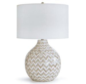 Chevron Natural Bone Lamp