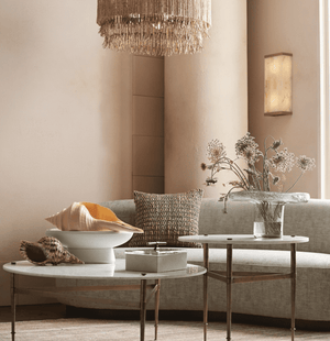 Amalfi Coast Natural Bead Chandelier Chandelier