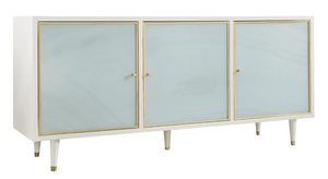 "Seaglass 70"" Three-Door Credenza Cabinet"