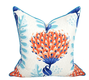 "Palm Beach Coral Thistle 20"" Pillow Pillow"