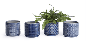 "Indigo Loretto Pots 5""h - Assorted Styles Planter"