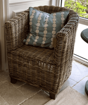 Rattan Barrel Back Chair Accent Chair