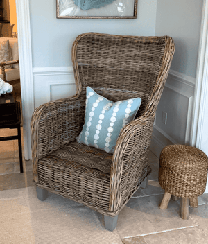 Rattan Wing Chair Accent Chair