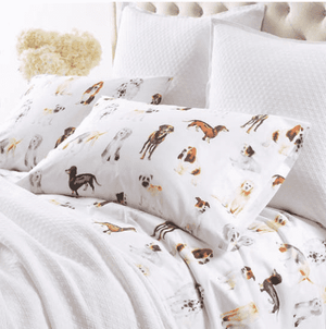 Watercolor Pup Sheet Set Bedding