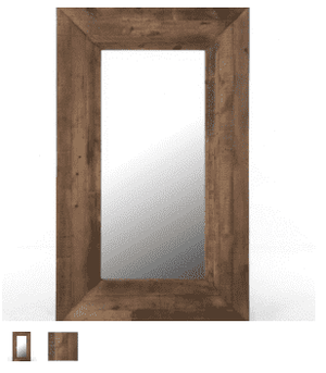 Large Recycled Wood Mirror Mirror