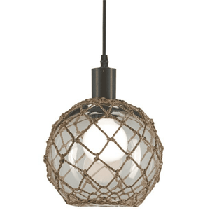 Sea Glass Float w/Netting Pendant(Medium) Pendant Light