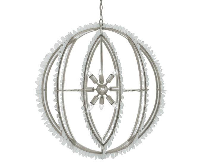 St. Thomas Glass Orb Chandelier