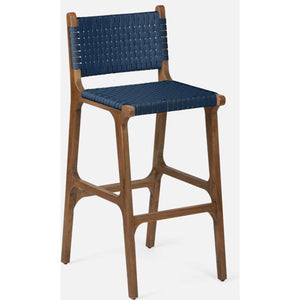 Tortuga Counter & Bar Stool in White or Navy Bar/Counter Stool