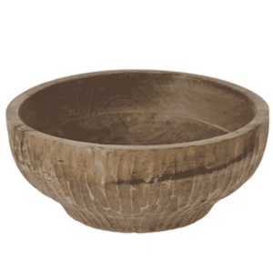 Carved Wood Indonesian Bowl (finishes & sizes vary) Decor