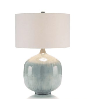Aqua Pearlized Table Lamp