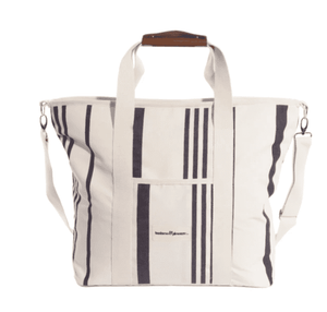The Premium Cooler Tote - Vintage Black Stripe Beach