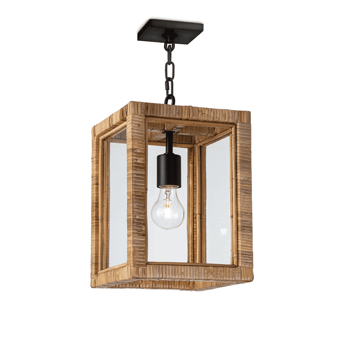 Bamboo & Glass Hanging Light
