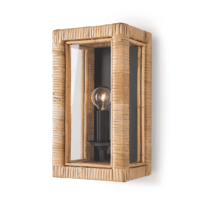 Bamboo & Glass Sconce