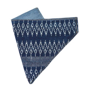 Blue Batik Dog Bandana Dog