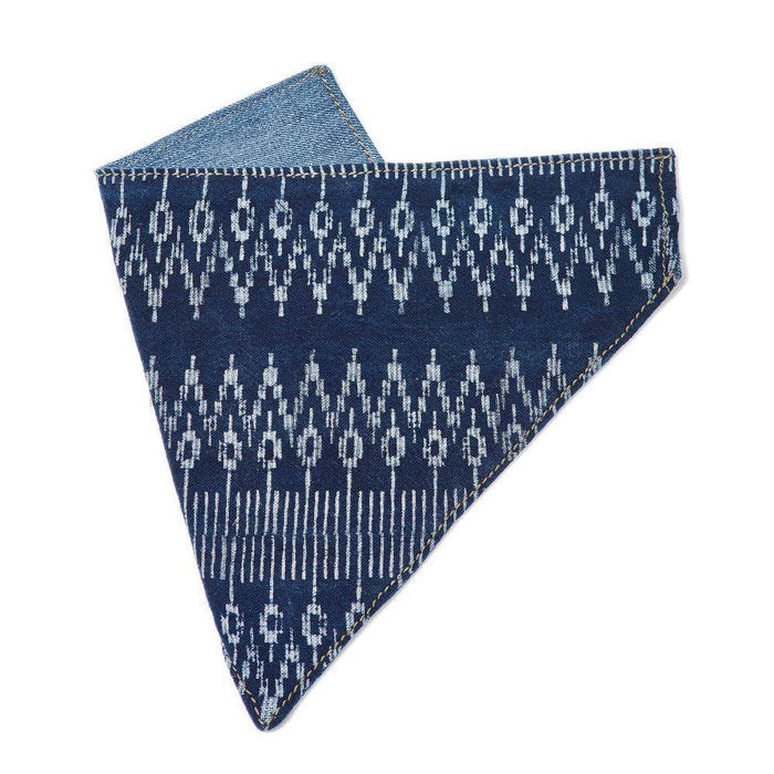 Blue Batik Dog Bandana