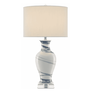 Bellport Navy & White Table Lamp Lamp