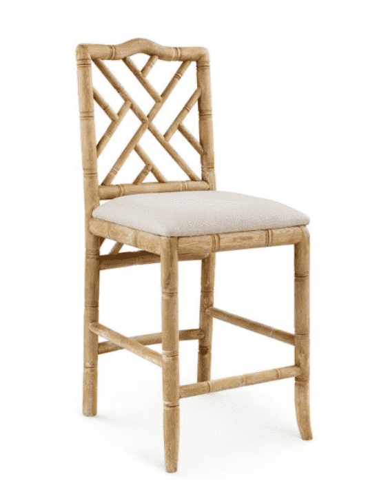 Biltmore Chippendale Natural Counter Stool