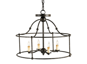 Birdcage Wrought Iron Lantern (Two Sizes & Two Finishes) Chandelier Small Mayfair (dark wrought iron)