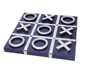 Blue and Silver Tic Tac Toe Game