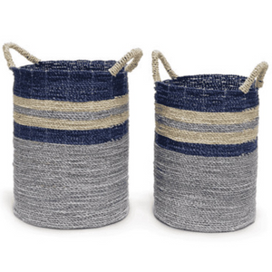 Brentwood Indigo Baskets - Set of Two