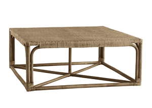 "Brockton 40"" Woven Rattan Cocktail Table Coffee Table"