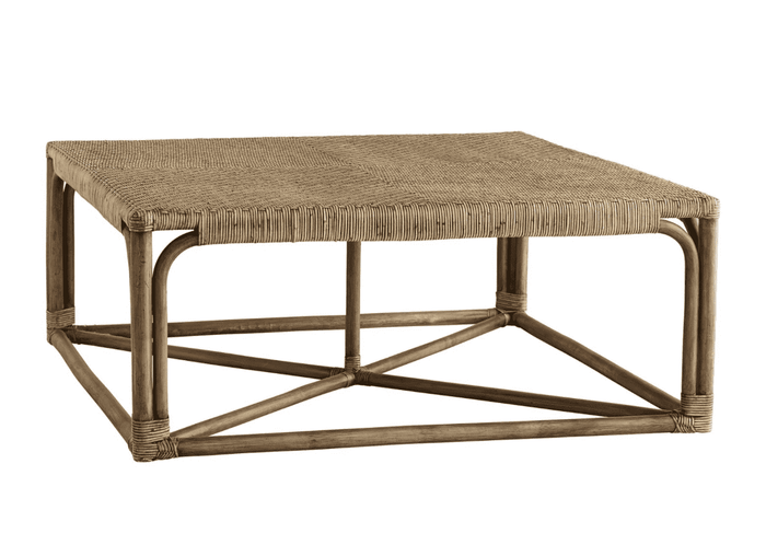 "Brockton 40"" Woven Rattan Cocktail Table"