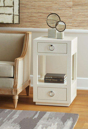 Chelsea 2-Drawer Side Table - White Side Table
