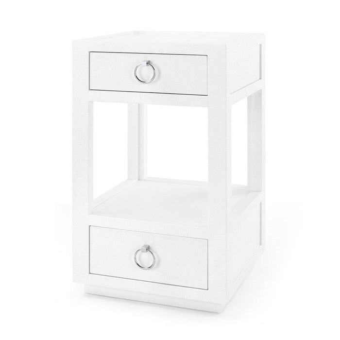 Chelsea Two Drawer Side Table - White