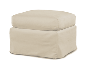 Captiva Outdoor Slipcovered Ottoman