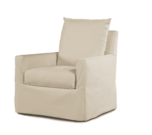Captiva Outdoor Slipcovered Swivel Lounge Chair
