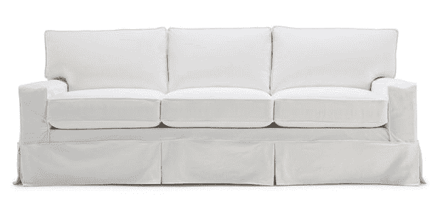 "Carmel 79"" 3/3 Queen Sleeper Slipcovered Sofa"