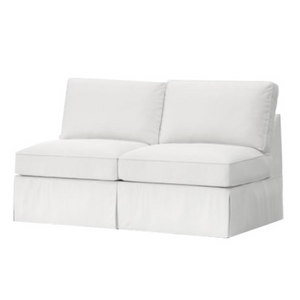 "Carmel 60"" Slipcovered Armless Loveseat Slipcovered Loveseat"