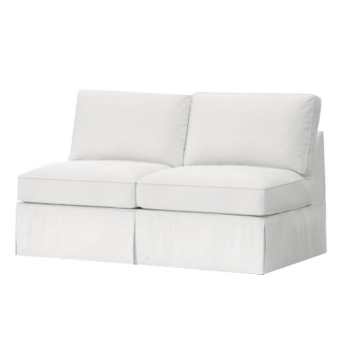 "Carmel  60"" Slipcovered Armless Loveseat"