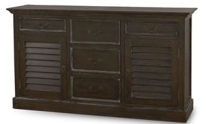 "Bahama Style Sideboard/Chest - Quick Ship in Two Finishes Chest 63"" Cocoa"