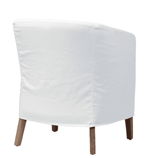 "Chelsea White 24"" Slipcovered Dining Arm Chair Dining Chair"