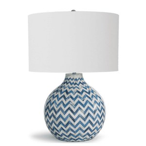 Chevron Indigo Bone Lamp Lamp