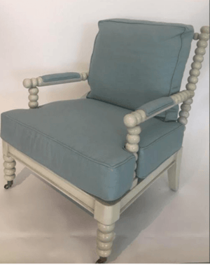 Martinique Spindle Chair - Multiple Finishes and Fabrics Accent Chair
